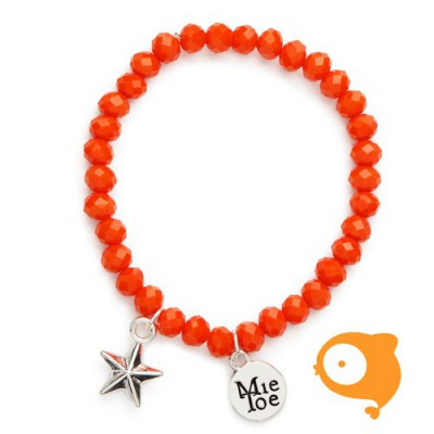 Mie Toe - Dochter armbandje star orange