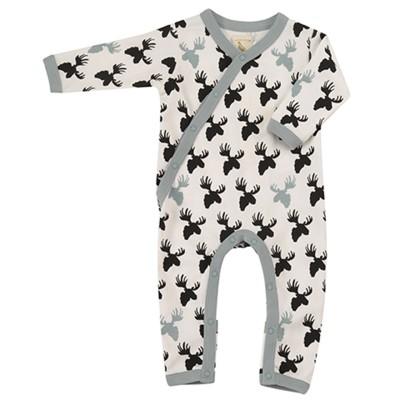 Pigeon - pyjama romper moose head - black/white