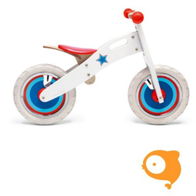 Scratch - Balance bike large wit met ster 3-6 jaar