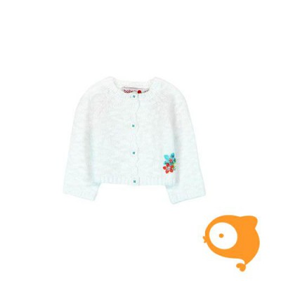 Boboli - Witte gebreide cardigan
