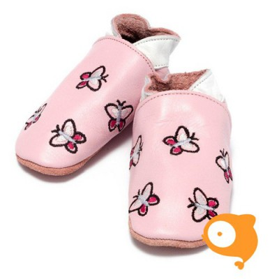 Baby Dutch - Slofjes vlinder roze
