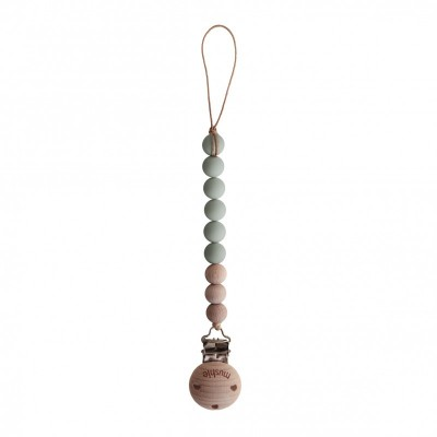 Mushie - Speenketting Cleo - Sage/Wood
