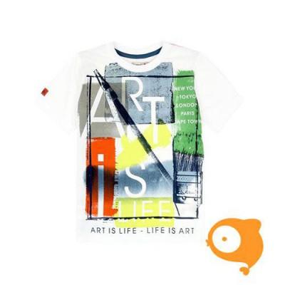 Boboli - T-shirt wit met print