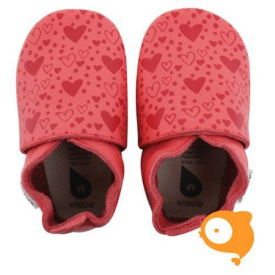 Bobux - Soft sole GIANTS spiced coral heart print