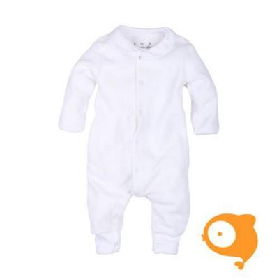 Claesen's - Newborn kruippakje lange mouwen wit