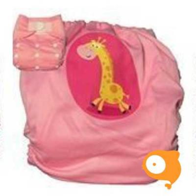 Pandababy - Uitwasbare zwemluier Giraf (klittenband)