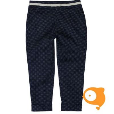 Boboli - Geklede broek donkerblauw met gouden stippen