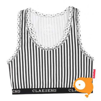 Claesen's - Girls crop top ribbon/stripes