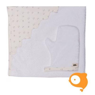 Baby Bites - Set handdoek en washandje kippenpootjes