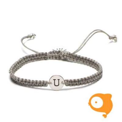 Proud Mama - Armband met initiaal U