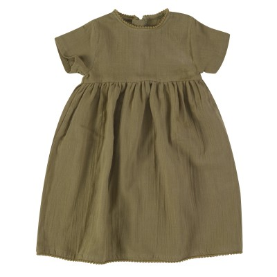 pigeon - pretty muslin dress olive