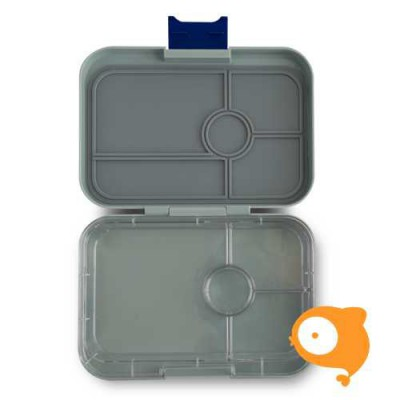Yumbox - Tapas Flat Iron Gray met 4 compartimenten Clear tray