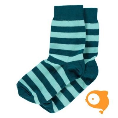 Maxomorra - Socks petrol/blue