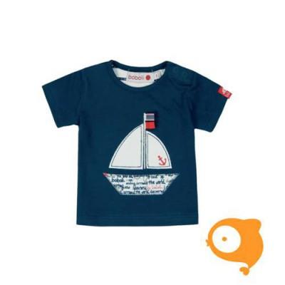 Boboli - T-shirt blauw met boot