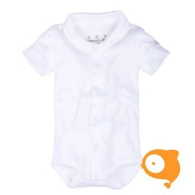 Claesen's - Newborn romper korte mouwen wit