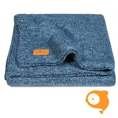 Jollein - Deken 75 x 100 stonewashed knit navy/teddy