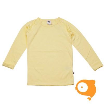 Krutter - Longsleeve ruffle yellow