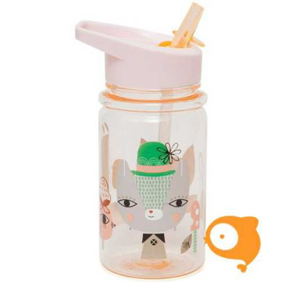 Petit Monkey - Drinkfles - Lama & Friends - Peach