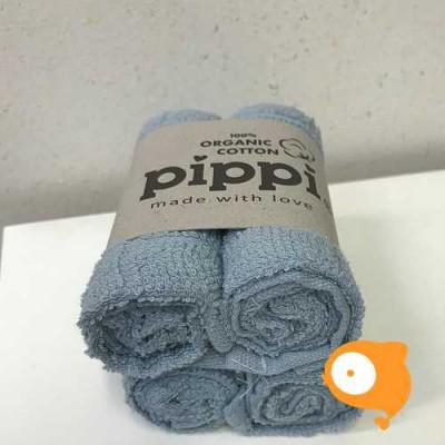 Pippi - Monddoekje 27x27cm - set van 4 stuks - celestial blue