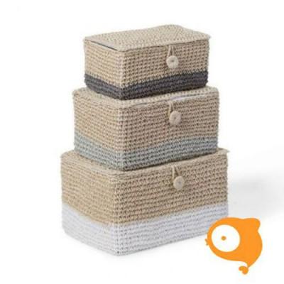 Childhome - Opbergmanden geweven papier set van 3 stuks