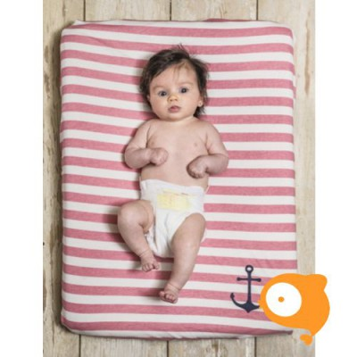 Baby Bites - Aankleedkussenhoes sailor pink stripes
