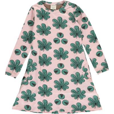 Maxomorra - Dress LS Chestnut leaf