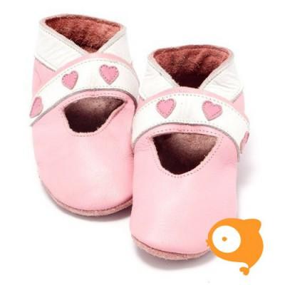 Baby Dutch - Slofjes open hartjes roze