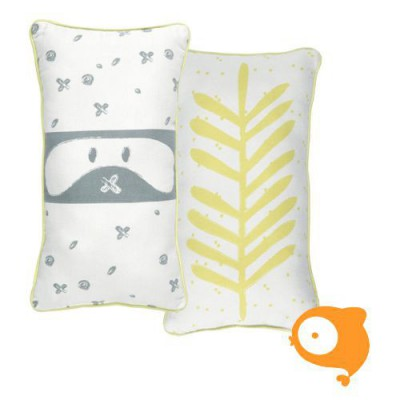 Roomblush - Kussentje little bandit yellow/grey