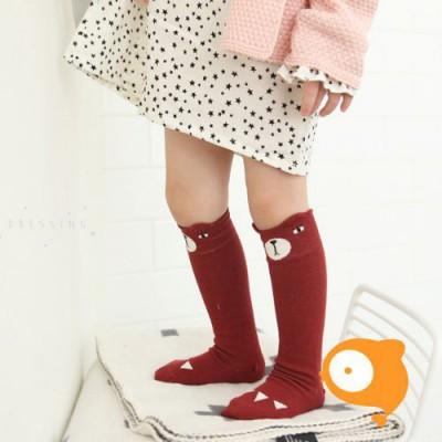 Mini Dressing - Kniekousen bear red