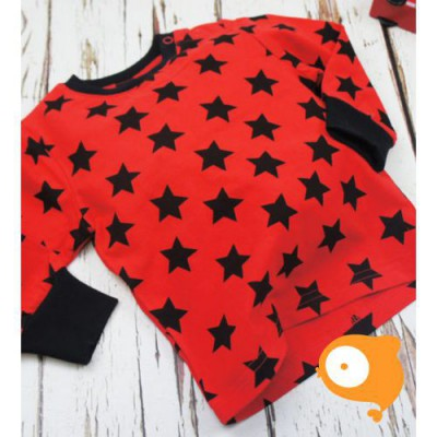 Blade&Rose - Longsleeve allover red & black star