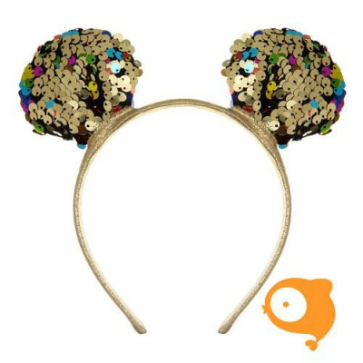 Mimi & Lula - Mouse ears alice band goud