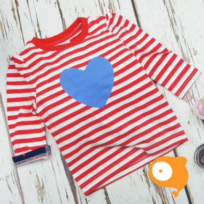 Blade&Rose - Longsleeve red/white stripe & blue heart