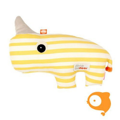 Done by Deer - Knuffel soft toy 2D Nozo yellow