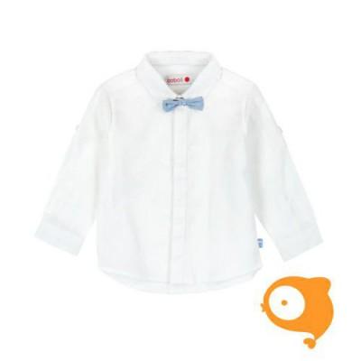 Boboli - Wit hemdje LS met strikje