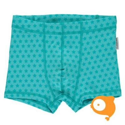 Maxomorra - Boxer shorts stars turquoise