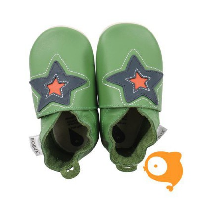 Bobux - Soft sole astro ster groen