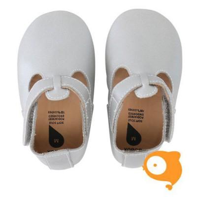 Bobux - Soft sole silver t-bar