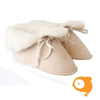 Baby Dutch - Wollige winter slofjes licht roze