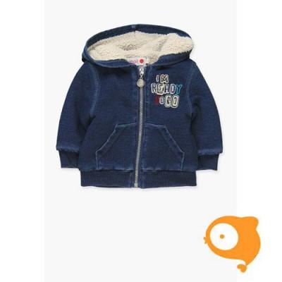 Boboli - Jasje baby jeans blauw met kap