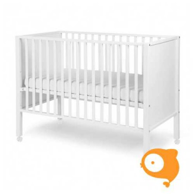 Childhome - Bed gesloten beuk wit met wielen 60x120cm