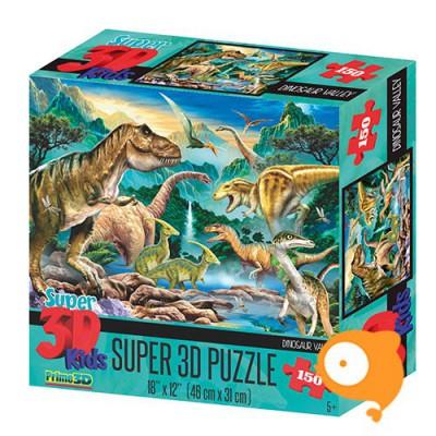 Prime 3D - Puzzel 150 stukjes 'Dinosaurus vallei'