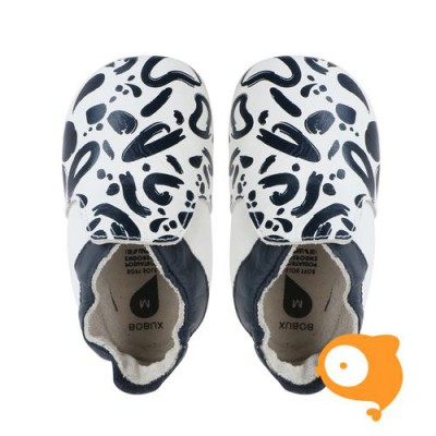 Bobux - Soft sole navy & white abstract