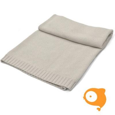 Poetree - Gebreide katoenen deken sand grey 80 x 100 cm