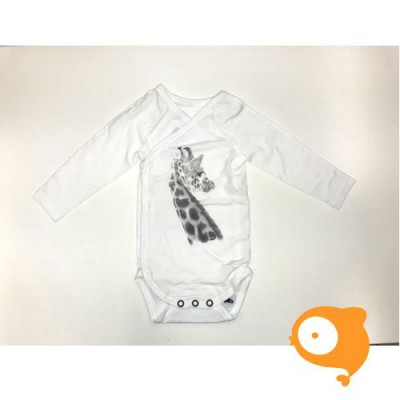 Miss Princess and little frog - Crossover body longsleeve giraf