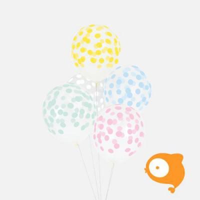 My little day - Ballonnen confetti pastelkleuren - set van 5