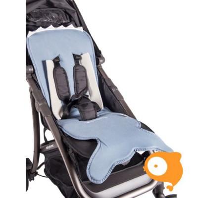 Baby Bites - Zitkussen kinderwagen Slate Blue