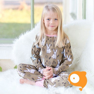 Maxomorra - Pyjama set LS rabbit PLUS collectie