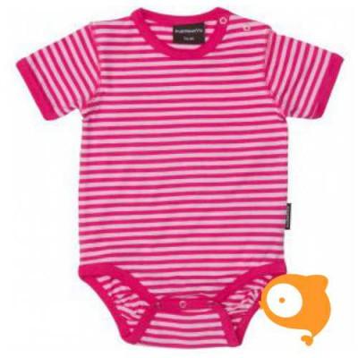 Maxomorra - Body SS stripe cerise/pink