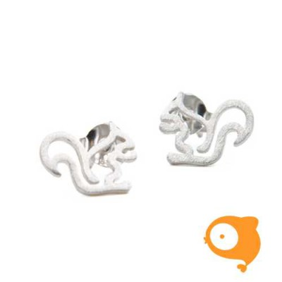 By Nebuline - Oorbellen eekhoorn in sterling zilver