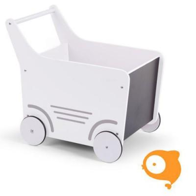 Childhome - Houten loopwagen wit